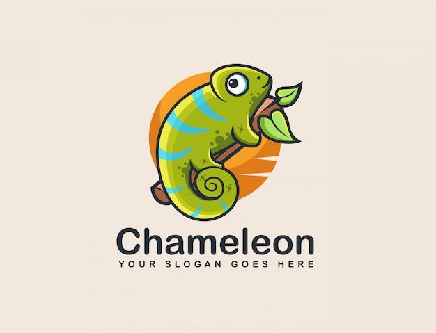 Logotipo da mascote de camaleão
