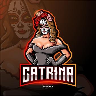 Logotipo da mascote de catrina