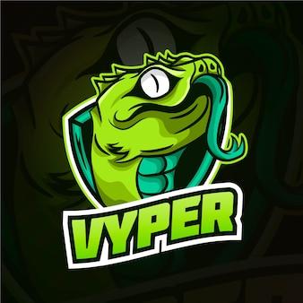Logotipo da mascote de cobra