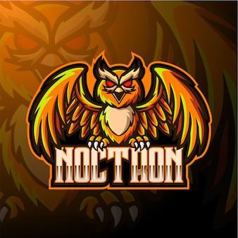 Logotipo da mascote de coruja