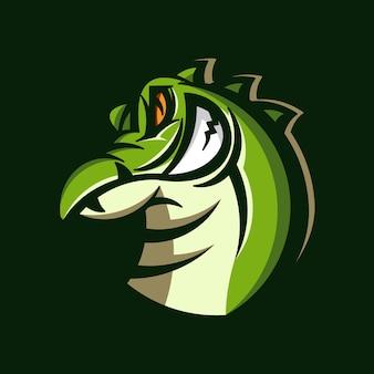 Logotipo da mascote de crocodilo