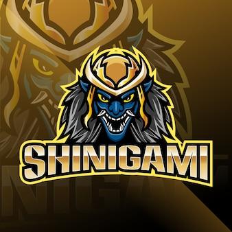 Logotipo da mascote de esporte shinigami