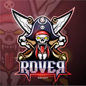 Logotipo da mascote de pirata
