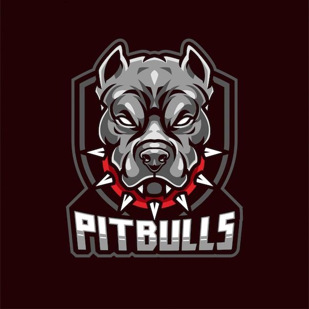 Logotipo da mascote de pitbull