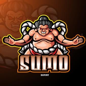 Logotipo da mascote de sumô