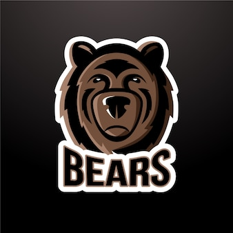 Logotipo da mascote de urso