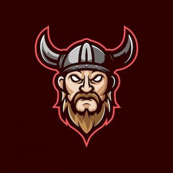 Logotipo da mascote de viking