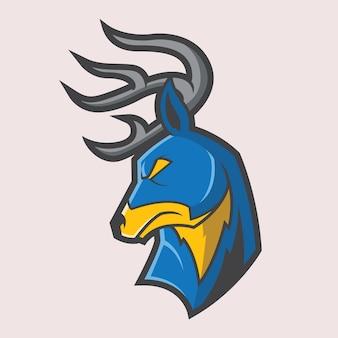 Logotipo da mascote do chifre