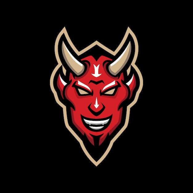 Logotipo da mascote do diabo