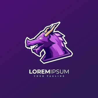 Logotipo da mascote do dragão