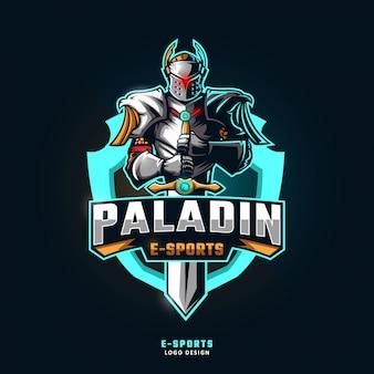 Logotipo da mascote do esporte paladin