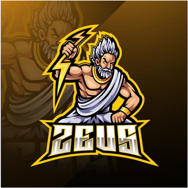 Logotipo da mascote do esporte zeus