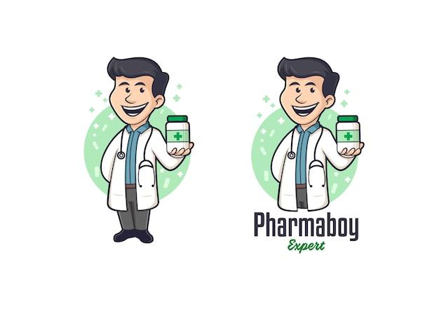 Logotipo da mascote do farmacêutico