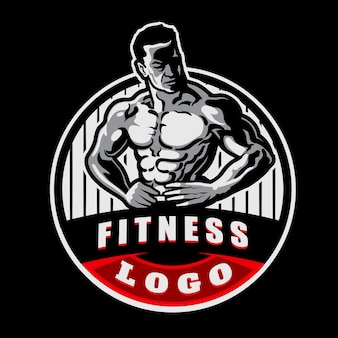 Logotipo da mascote do ginásio de fitness