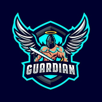 Logotipo da mascote do guardião