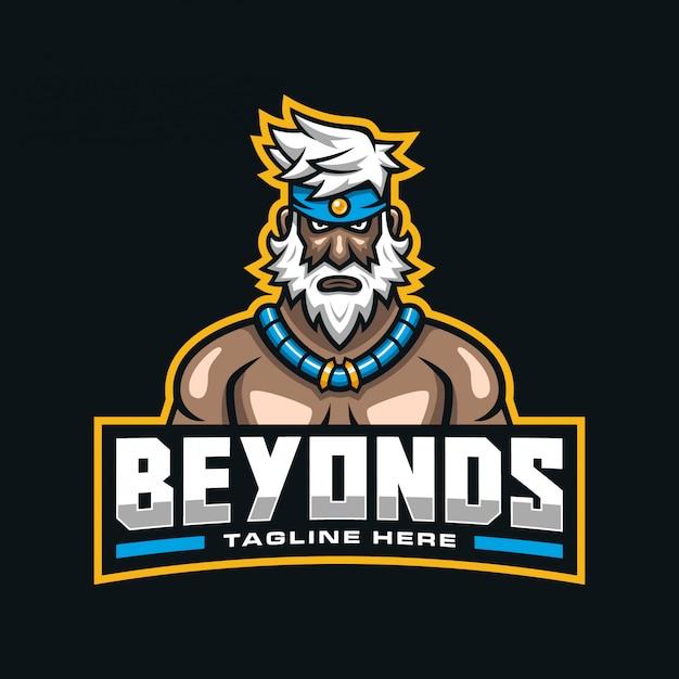 Logotipo da mascote do homem