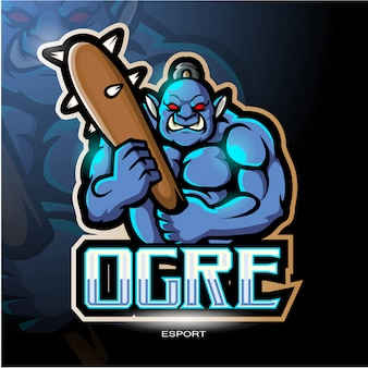 Logotipo da mascote do ogro