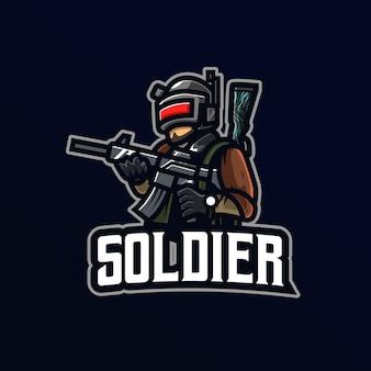 Logotipo da mascote do soldado