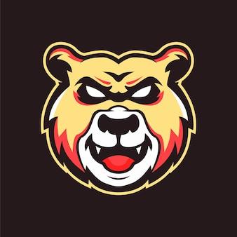 Logotipo da mascote do urso do sorriso