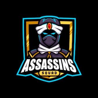 Logotipo da mascote dos assassinos do exército de ouro