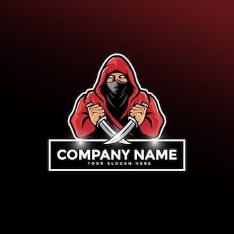 Logotipo da mascote dos guerreiros da sombra