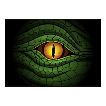 Logotipo da mascote dos olhos de réptil esport