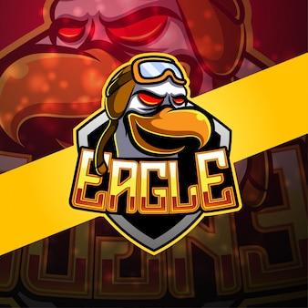 Logotipo da mascote esport águia