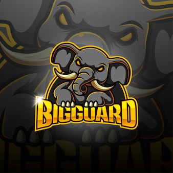 Logotipo da mascote esport big guard