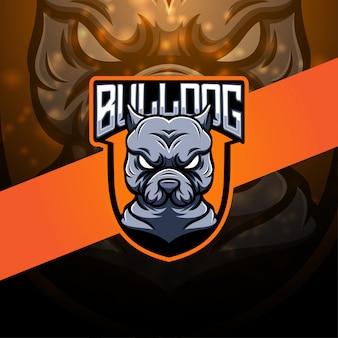 Logotipo da mascote esport bulldog