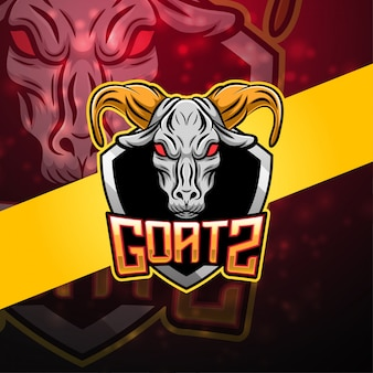 Logotipo da mascote esport cabras