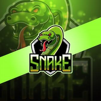 Logotipo da mascote esport cobra