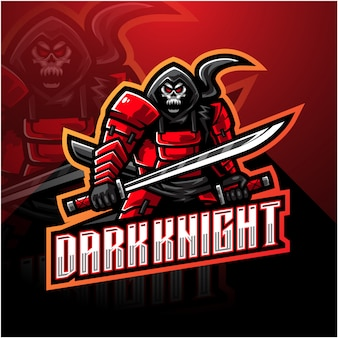 Logotipo da mascote esport dark knight