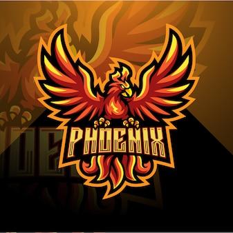 Logotipo da mascote esport phoenix