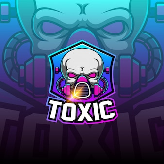 Logotipo da mascote esport tóxico