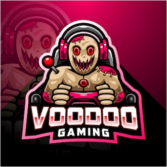 Logotipo da mascote esport voodoo gaming