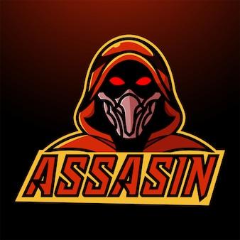Logotipo da mascote esportivo assassino