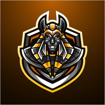 Logotipo da mascote esportivo de anubis