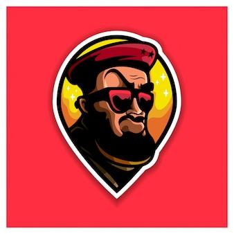 Logotipo da mascote geral do ditador