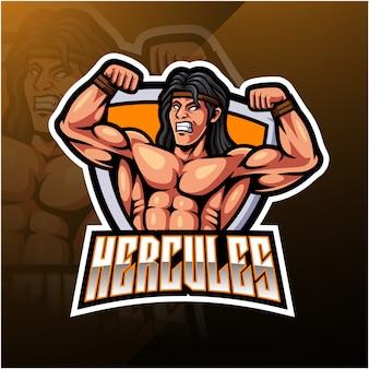 Logotipo da mascote hercules esport