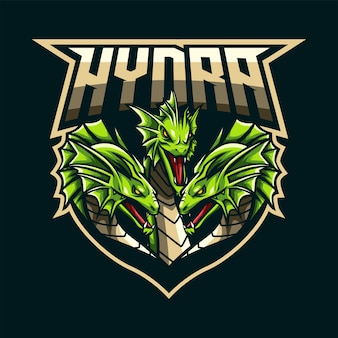 Logotipo da mascote hydra para esportes e esportes