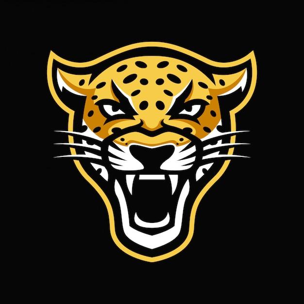 Logotipo da mascote jaguar