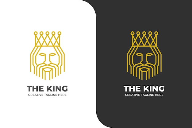 Logotipo da mascote king luxo