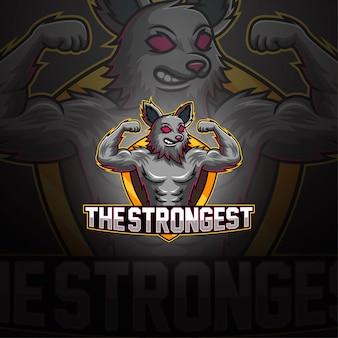 Logotipo da mascote lobo esport