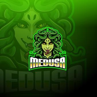 Logotipo da mascote medusa esport