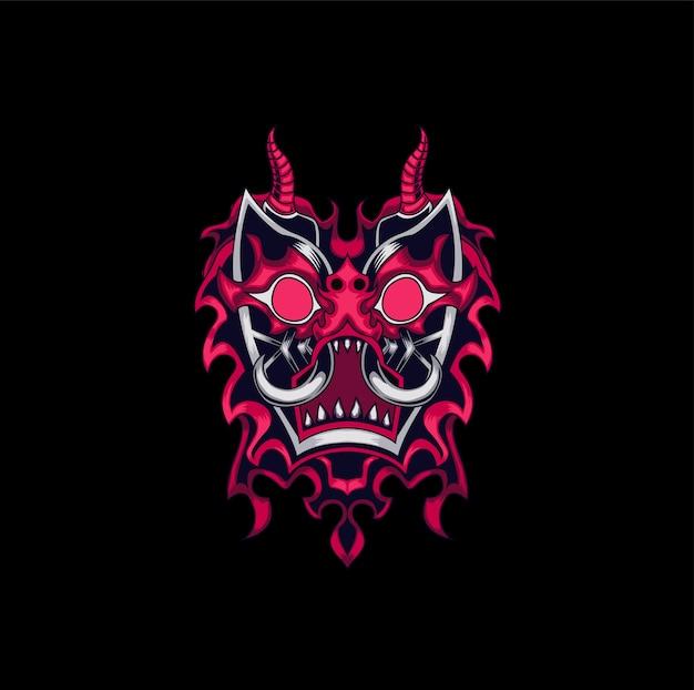 Logotipo da mascote monstro tribal mal