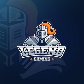 Logotipo da mascote para o conceito de jogos