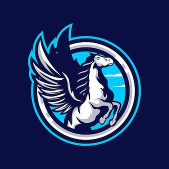 Logotipo da mascote pegasus