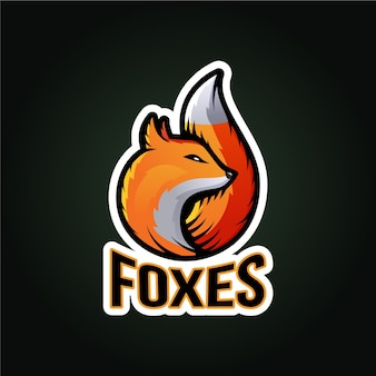 Logotipo da mascote raposa
