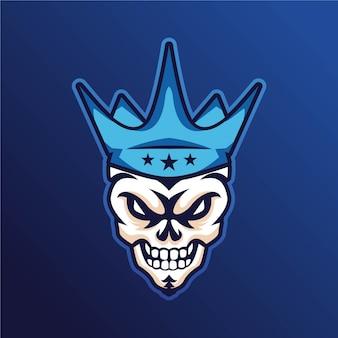 Logotipo da mascote rei do crânio