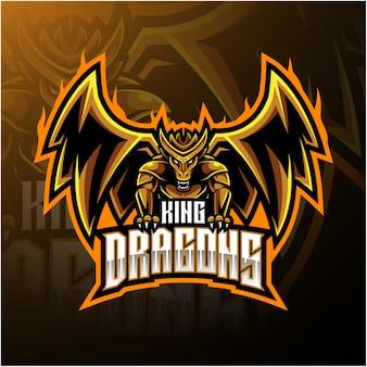 Logotipo da mascote rei dragão